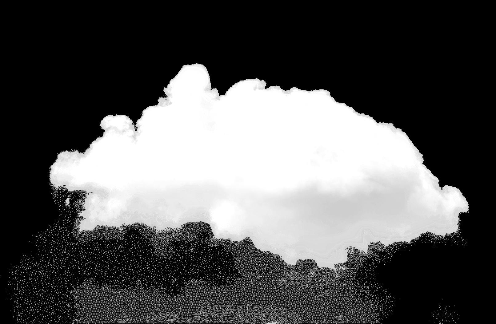 中くらいの白いフワフワの雲
