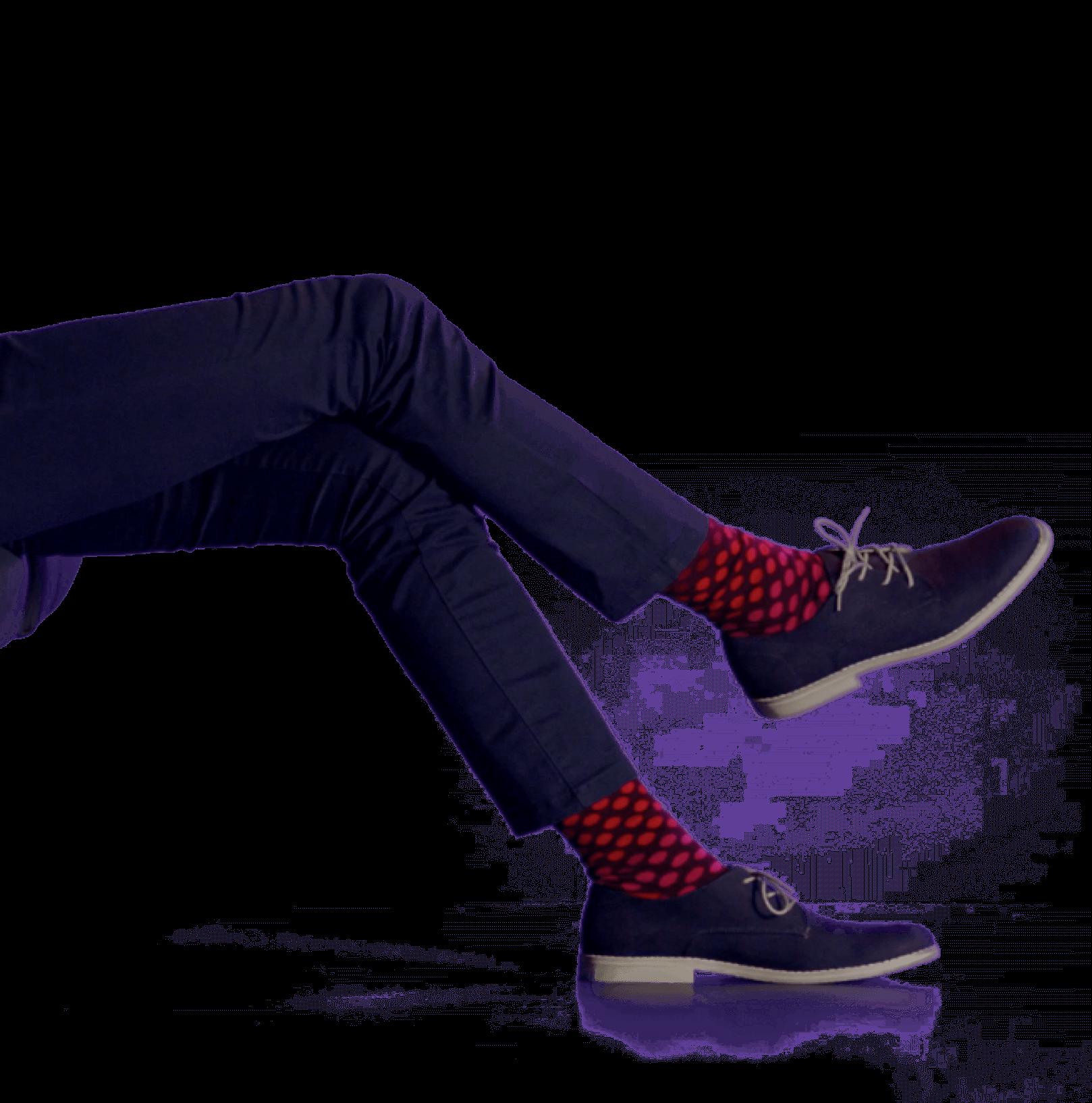 伸ばした足