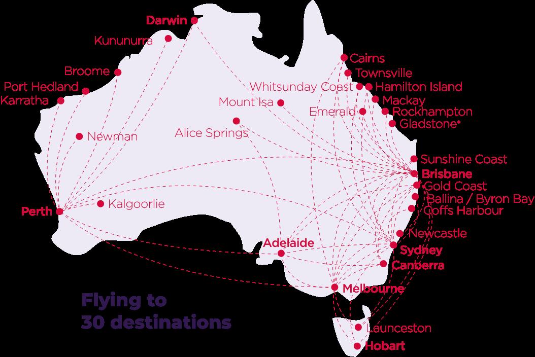 Virgin Australia Domestic Network Cargo Map