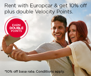 Rent with Europcar and receive 10% off plus double Points.