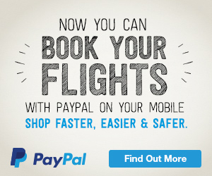 Now you can book flights with PayPal on mobile. Find out more.