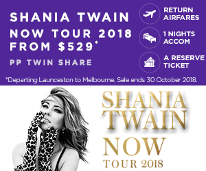 Shania Twain NOW Tour 2018 from $529*